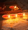 Suriti Multicolour Clay Diwali Diya - Set of 11
