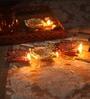 Suriti Multicolour Clay Diwali Diya - Set of 4