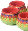 Suriti Multicolour Clay Diwali Diya - Set of 5