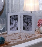 White Synthetic and Glass Collage Photo Frame