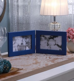 SViRU Blue Synthetic And Glass Collage Photo Frame