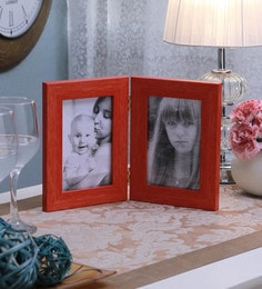 SViRU Orange Synthetic And Glass Collage Photo Frame - 1587919