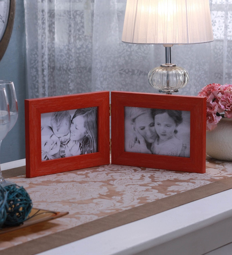 Orange Synthetic and Glass Collage Photo Frame by SViRU