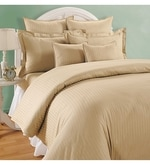 Beige Cotton Queen Size Bed Sheet - Set of 3