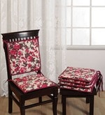Brown Cotton 16 x 16 Inch Contemporary Chair Pad - Set of 2