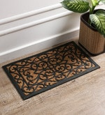 Black Coir 24 x 14 Inch Rectangle Mat
