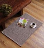 Gray Cotton 35 x 24 inches Loop Jumbo Door Mat