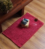 SWHF Marrons Cotton 30 x 20 Inch Solid Rectangular Large Loop Area Rug