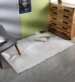 Grey Cotton Microfiber 71 x 47 Inch Extra Large Area Rug
