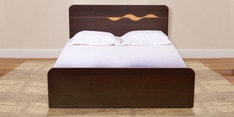 Swirl King Size Bed in Denver Oak Finish