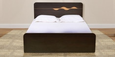 Swirl Queen Size Bed in Denver Oak Finish