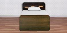 Swirl Single Bed with Box Storage in Denver Oak Finish