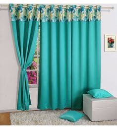 turquoise faux silk 60 x 48 inch solid pnp blackout eyelet window curtain