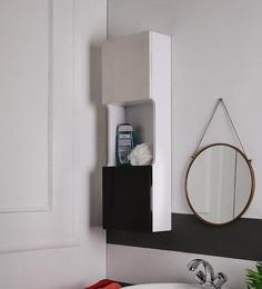 SWK Sanitaryware Nubia Black & White PVC 10 X 5 X 30 Inch Bathroom Cabinet