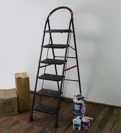 SWK Sanitaryware PPCP & Steel 6 Steps 6.4 FT Folding Ladder
