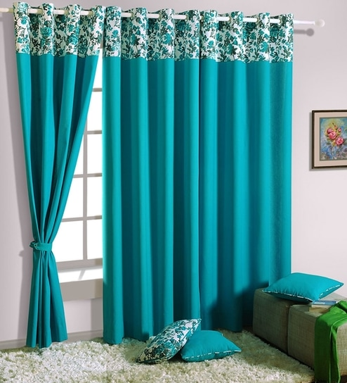 Solid Cotton 5 Feet Window Curtain By Swayam