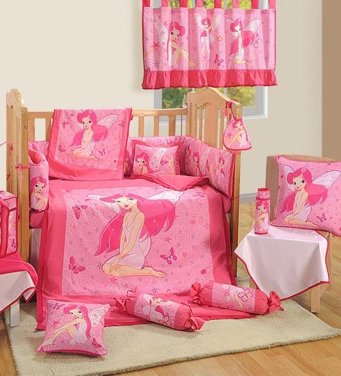 Fairy 7 Piece Baby Crib Bedding Set By Swayam