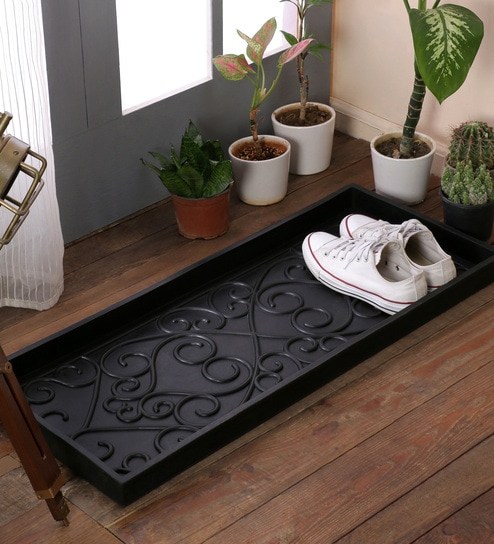 Buy Black Rubber 33 X 14 Inch Extra Large Door Mats By Swhf Online