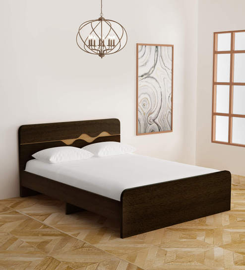 Brilliant Swirl Queen Size Bed In Denver Oak Finish By Hometown Download Free Architecture Designs Rallybritishbridgeorg