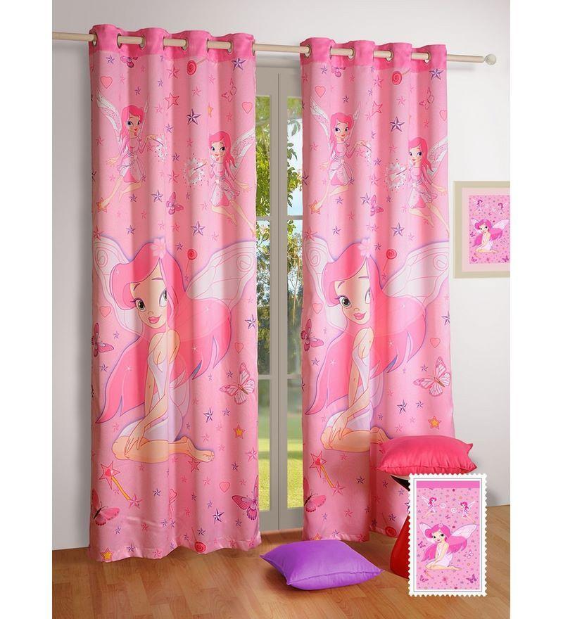 Digital Printed Kids Silk 90x48 INCH Eyelet Door Curtain by Swayam