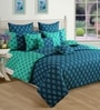 Swayam Blue Cotton Duvet Cover