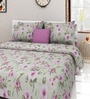 Swastika Green Cotton Queen Size Bed Sheet with 2 Pillow Covers
