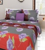 Swastika Multicolour Cotton Queen Size Bed Sheets with 2 Pillow Covers