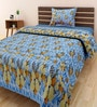 Multicolour 100% Cotton Single Size Bedsheet - Set of 2 by Swastika