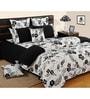 Swayam Black Cotton Bed sheet - Set of 2