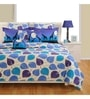 Swayam Blue Cotton Bed sheet - Set of 2