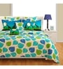 Swayam Blue Cotton Bed sheet - Set of 2