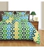 Swayam Blue Poly Cotton Bed sheet - Set of 2