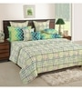 Cream Cotton Queen Size Bed Sheet - Set of 3 by Swayam
