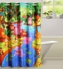 Multicolour Cotton Animal Print Kid's Door Curtains by Swayam
