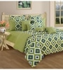 Green Cotton Bed sheet - Set of 2 by Swayam