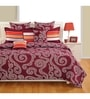 Maroon Cotton Queen Size Bed Sheet - Set of 3 by Swayam
