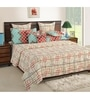 Off White Cotton Queen Size Bed Sheet - Set of 3 by Swayam