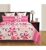 Swayam Pink Cotton Queen Size Bed Sheet - Set of 3