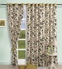 Multicolour Cotton 60 x 54 Inch Premium Printed Eyelet Window Curtain by Swayam