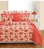 Swayam Red Cotton Queen Size Bed sheet - Set of 3