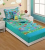Single Digital Print Baby Bed Sheet Set with 1 Pillow Cover by Swayam