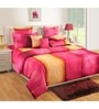 Pink Cotton Queen Size Bed Sheet - Set of 3 by Swayam