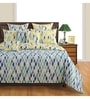 Multicolour Cotton Queen Size Bed sheet - Set of 3 by Swayam
