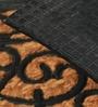 Black Coir 24 x 14 Inch Rectangle Mat by SWHF