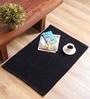 Black Cotton 35 x 24 Inches Loop Jumbo Door Mat by SWHF