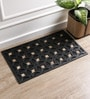 Black Rubber 30 x 18 Inch Large Floral Cut Out Mat by SWHF