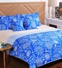 SWHF Blue Cotton Queen Size Comforter - Set of 5