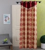Red & Gold Cotton 83 x 47 Inch Paisley Door Curtain - Set of 2 by SWHF