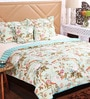 SWHF Green Cotton Queen Size Comforter - Set of 5