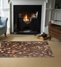 Brown Leather 59 x 35 Inch Area Rug by SWHF